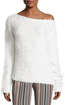Theory Irinka Plush Silk Sweater, Ivory