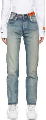 Heron Preston Blue Levis Edition Denim 501 Jeans