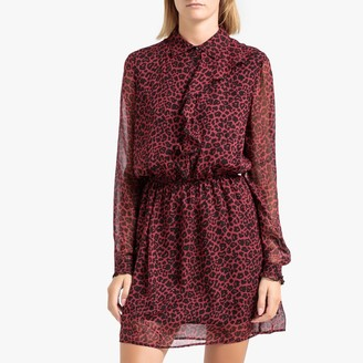 Liu Jo Printed Voile Dress with Long Sleeves