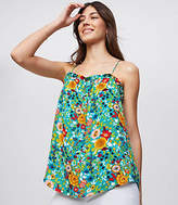 LOFT Flowerbed Ruffle Strappy Cami
