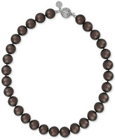 Majorica Silver-Tone Dark Imitation Pearl Collar Necklace