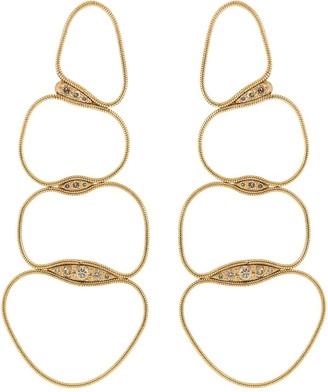 Fernando Jorge Brown Diamond Fluid Chain Earrings