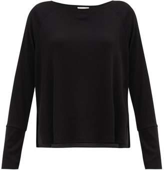Skin - Noomi Ribbed Jersey Pyjama Top - Womens - Black