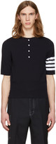 Thom Browne Navy Trompe Loeil Four Bar T-shirt