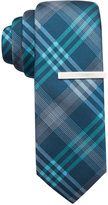 Alfani Men's Mars Plaid Skinny Tie, Only at Macy's