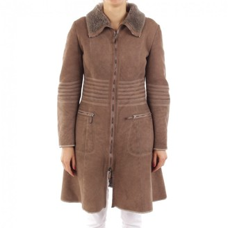 Emporio Armani Beige Shearling Jacket for Women