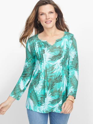 Talbots Pleated Palm Frond Tunic