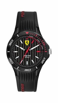 Ferrari Pista Quartz Watch with Silicone Strap