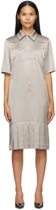 Commission SSENSE Exclusive Taupe Bralette Shirt Dress