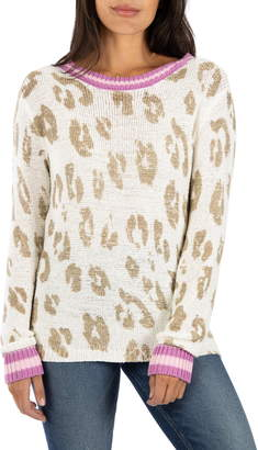 KUT from the Kloth Gracie Leopard Print Sweater