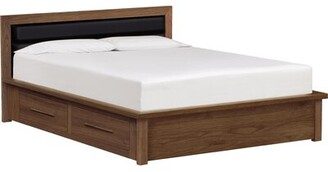 Copeland Furniture Moduluxe Upholstered Storage Platform Bed Size: California King, Frame Color: Autumn Cherry, Headboard Color: Sisal