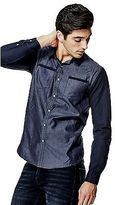 GUESS Men's Jarod Chambray Shirt