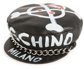 Moschino Women's Skulls Leather Cap - Black