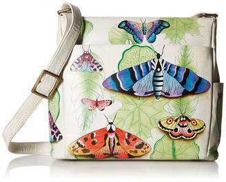 Anuschka Anna by Hand Painted Leather Women's Crossbody with Side Pockets