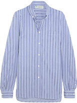 Balenciaga Striped Cotton-poplin Shirt - Blue