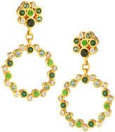 Gurhan Pointelle Open Green Stone Drop Earrings