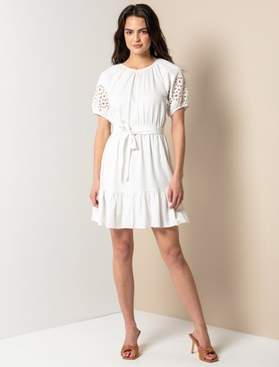 Forever New Becca Cut-Out Mini Dress - Porcelain - 10