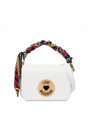 Love Moschino Shoulder Bag With Foulard Woman White Size U It - (one Size Us)