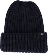 Paul Smith Navy Ribbed Wool Hat