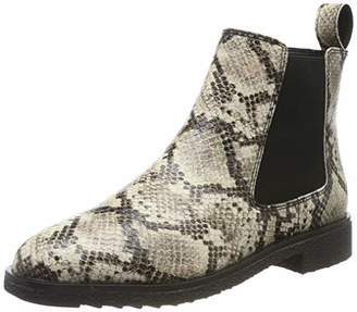 Clarks Women's Griffin Plaza Chelsea Boots, Grey Taupe Snake