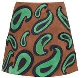 Miu Miu Embellished Suede Miniskirt