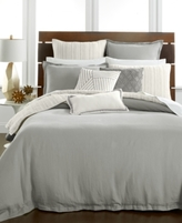 Hotel Collection Linen Fog King Duvet Cover