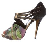 Pierre Hardy Printed Peep-Toe Pumps