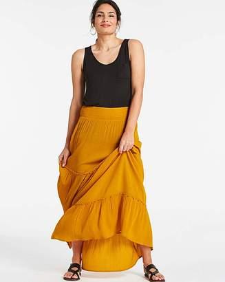 Capsule Crinkle Shirred Waist Maxi Skirt