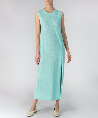 Atm Slub Jersey Muscle Tank Dress - Aqua