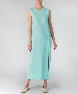 Slub Jersey Muscle Tank Dress - Aqua