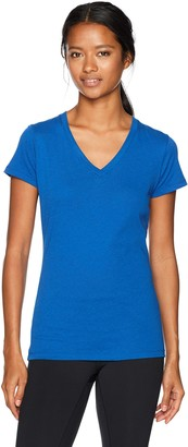 Soffe Women's Junior V-Neck Tissue Tee