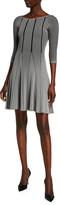 Emporio Armani Tubular Knit Full Skirt Dress