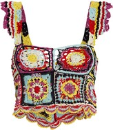 Carolina K. Tile Crochet Sleeveless Top