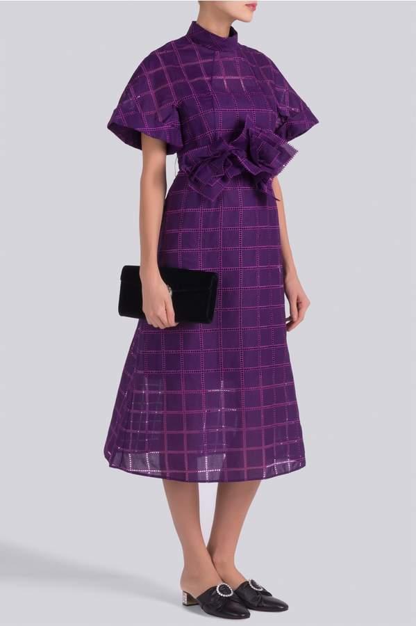 DELPOZO Midi Organdi Dress