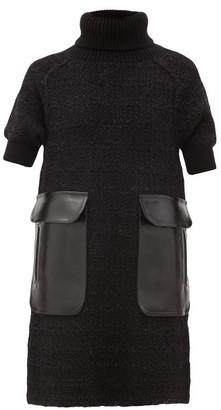 Junya Watanabe Contrast-pocket Tweed Dress - Black