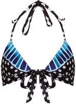 Mara Hoffman Samba Blue-print halterneck bikini top