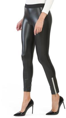 Ankle Zip Faux Leather Leggings