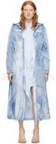 Off-White Off White Blue Tie-Dye Rain Coat