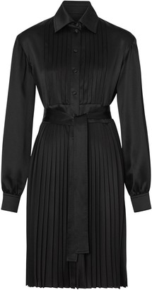 Burberry Pleated Shirt Dress