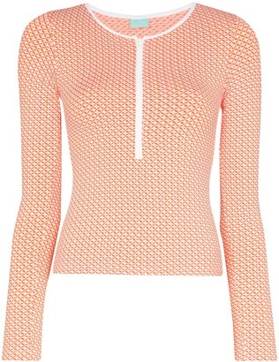 Melissa Odabash Cali zip rasher beach top