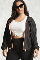 Forever 21 Plus Size Hooded Windbreaker