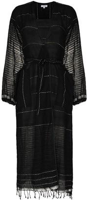 Lemlem Tikuri contrast-stitching robe