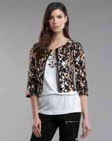 St. John Yellow Label Leopard Stretch Jacket