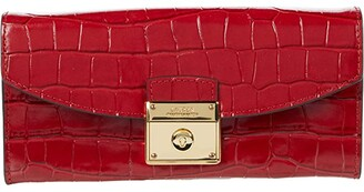 Lauren Ralph Lauren Lock Continental Wallet (RL 2000 Red) Handbags
