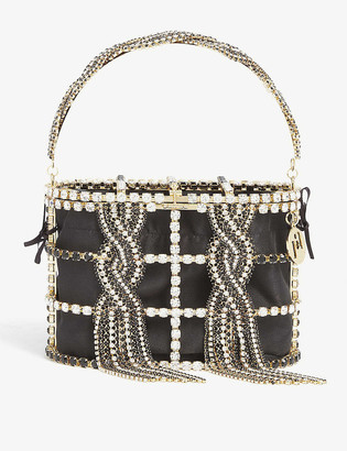 Rosantica Holli Tresse top-handle brass bag