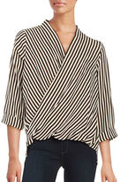 Glamorous Striped Surplice Top