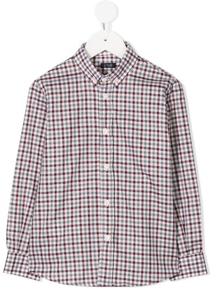 Il Gufo Check Long-Sleeve Shirt