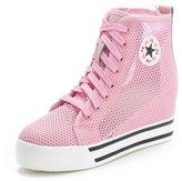 Shenni Women's Wedge Heel Formal Nylon Fashion Sneaker,7CA