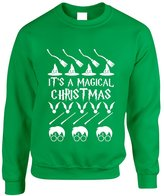 Allntrends Adult Crewneck It's A Magical Christmas Ugly Sweater Cool Gift (2XL, )