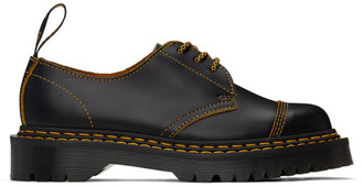 Dr. Martens Black and Yellow 1461 Bex Double-Stitch Oxfords